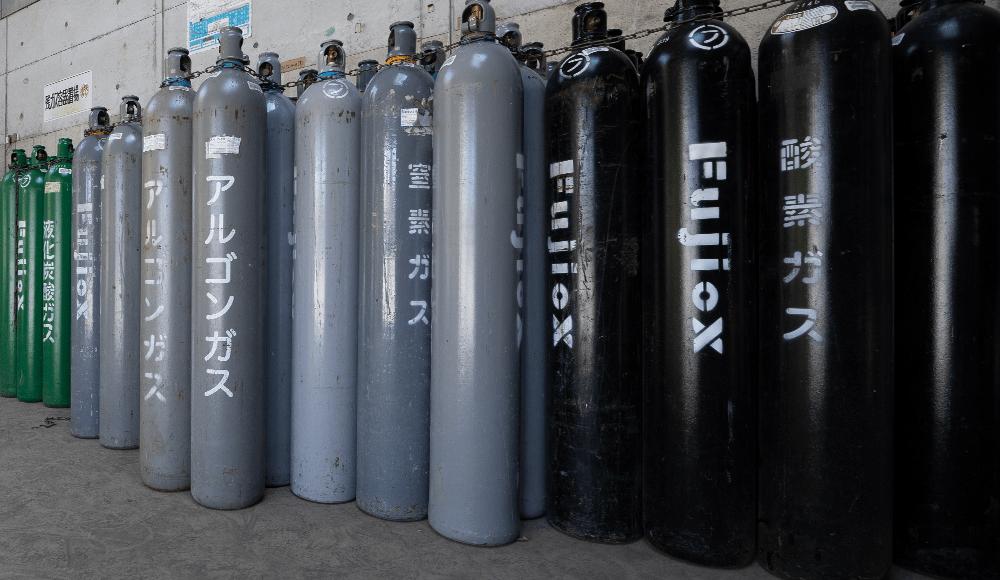 高圧ガス、ガス容器、ガス関連機器の製造・販売