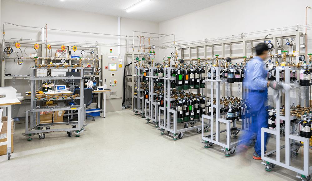 医療機関または、在宅医療向けの酸素充填管理システム稼働と販売
